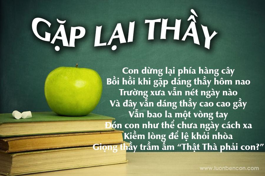 Thơ tặng thầy cô nhân ngày Nhà giáo Việt Nam 20-11